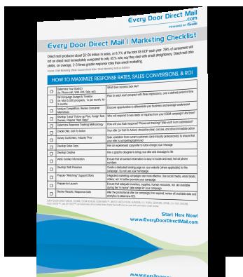 FREE EDDM® Marketing Checklist