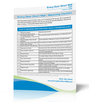 FREE EDDM® Marketing Checklist