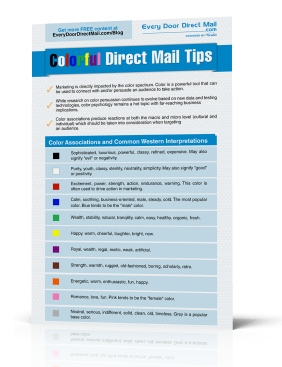 Colorful Direct Mail Tips