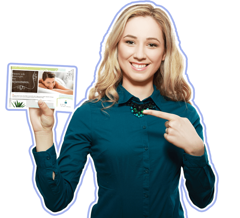 woman holding direct mail